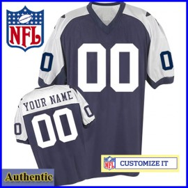 Dallas Cowboys Customized Authentic Throwback Navy White Jersey (Pick A Player)