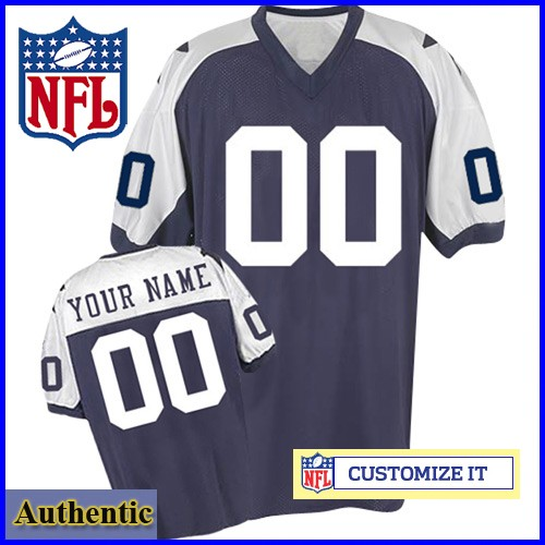 detailed look e8398 1453b Dallas Cowboys Womens Authentic Throwback Navy Silver Jersey ...