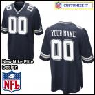 Dallas Cowboys Nike Elite Style Team Color Blue Jersey (Pick A Name)
