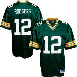 Green Bay Packers NFL Green Football Jersey #12 Aaron Rodgers