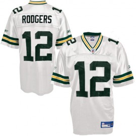 Green Bay Packers NFL White Football Jersey #12 Aaron Rodgers