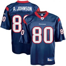 Houston Texans NFL Navy Blue Football Jersey #80 Andre Johnson