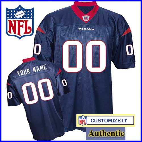the latest 173b5 8794b Houston Texans Women's RBK Style Authentic Home Blue Jersey ...