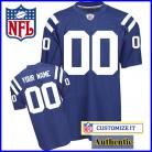 Indianapolis Colts RBK Style Authentic Home Blue Jersey (Pick A Player)