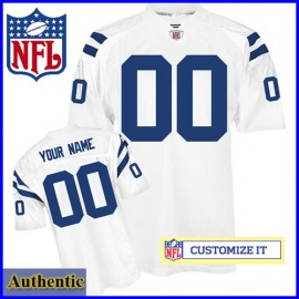 Indianapolis Colts RBK Style Authentic White Jersey (Pick A Player)