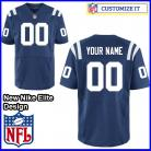 Indianapolis Colts Nike Elite Style Team Color Blue Jersey (Pick A Name)