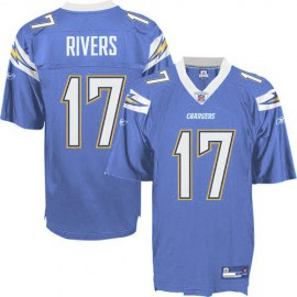 San Diego Chargers NFL Electric Blue Football Jersey #17 Phillip Rivers