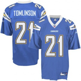 San Diego Chargers NFL Electric Blue Football Jersey #21 LaDainian Tomlinson