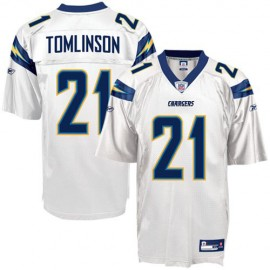 San Diego Chargers NFL White Football Jersey #21 LaDainian Tomlinson