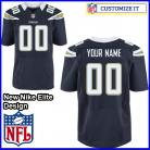 Los Angeles Chargers Nike Elite Style Team Color Blue Jersey (Pick A Name)