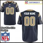 Los Angeles  Rams Nike Elite Style Home Blue Jersey (Pick A Name)