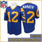 Los Angeles Rams Authentic Style Throwback Blue Jersey #12 Joe Namath