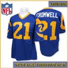 Los Angeles Rams Authentic Style Throwback Blue Jersey #21 Nolan Cromwell