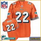 Miami Dolphins NFL Authentic Alt Orange Football Jersey #22 Reggie Bush