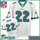 Miami Dolphins NFL Authentic White Football Jersey #22 Reggie Bush
