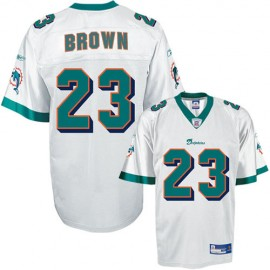 Miami Dolphins NFL White Football Jersey #23 Ronnie Brown
