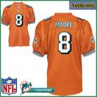 Miami Dolphins NFL Authentic Alt Orange Football Jersey #8 Matt Moore