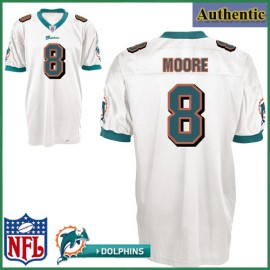 Miami Dolphins NFL Authentic White Football Jersey #8 Matt Moore