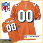 Miami Dolphins RBK Style Authentic Alternate Orange Jersey (Pick A Player)