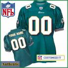 Miami Dolphins Womens RBK Style  Authentic Home Green Jersey Customized