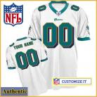 Miami Dolphins RBK Style Authentic White Jersey (Pick A Player)
