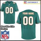 Miami Dolphins Nike Elite Style Team Color Green Jersey (Pick A Name)