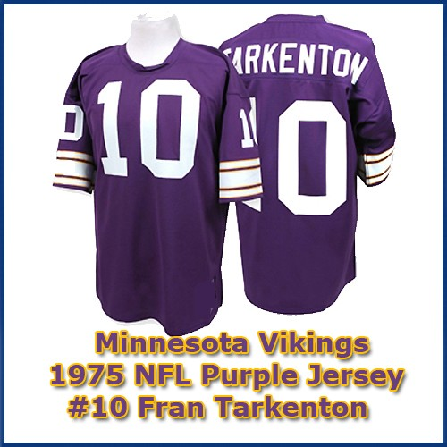 watch 43a3b 02f13 Minnesota Vikings 1975 NFL Dark Purple Jersey #10 Fran Tarkenton