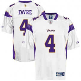 Minnesota Vikings NFL White Football Jersey #4 Brett Favre