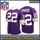 Minnesota Vikings Authentic Style Throwback Purple Jersey #22 Paul Krause