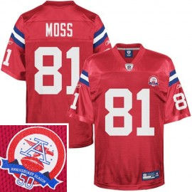New England Patriots NFL AFL Throwback Football Jersey #81 Randy Moss