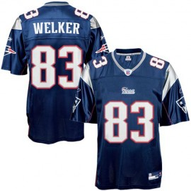 New England Patriots NFL Navy Blue Football Jersey #83 Wes Welker