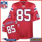 NE Patriots NFL Authentic Throwback Red Football Jersey #85 Chad Ochocinco