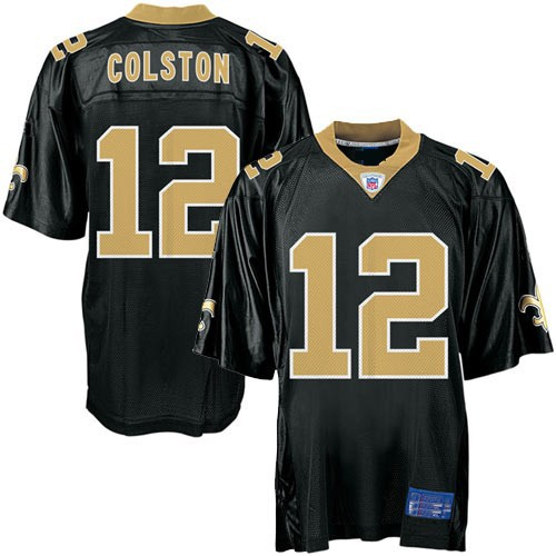 detailed pictures 94d08 d9eb2 New Orleans Saints NFL Black Football Jersey #12 Marques Colston