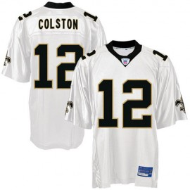 New Orleans Saints NFL White Football Jersey #12 Marques Colston