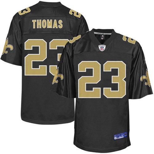 newest 6eff5 db41f New Orleans Saints NFL Black Football Jersey #23 Pierre Thomas