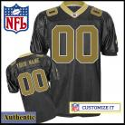New Orleans Saints RBK Style Authentic Home Black Jersey (Pick A Player)