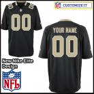 New Orleans Saints Nike Elite Style  Team Color Black Jersey (Pick A Name)