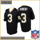 New Orleans Saints Authentic Style Throwback Black Jersey #3 Bobby Hebert