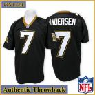 New Orleans Saints Authentic Style Throwback Black Jersey #7 Morten Andersen
