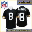 New Orleans Saints Authentic Style Throwback Black Jersey #8 Archie Manning