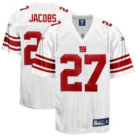 New York Giants NFL White Football Jersey #27 Brandon Jacobs