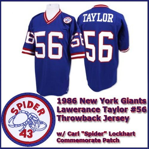 cheap for discount 55b35 3997f New York Giants 1986 NFL Dark Blue Jersey #56 Lawrence Taylor
