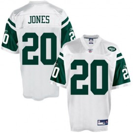 New York Jets NFL White Football Jersey #20 Thomas Jones