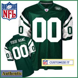 new arrival 27386 654ef New York Jets RBK Style Authentic Home Green Jersey (Pick A ...