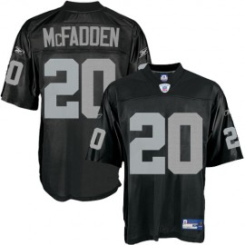 Oakland Raiders NFL Black Football Jersey  #20 Darren McFadden