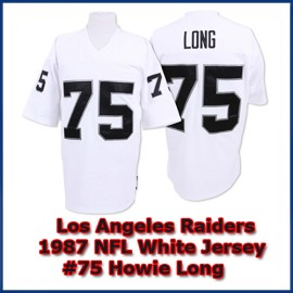Los Angeles Raiders 1987 NFL White Jersey #75 Howie Long