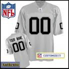 Oakland Raiders RBK Style Authentic Alternate Silver Jersey (Pick A Player)