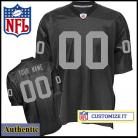 Oakland Raiders RBK Style Authentic Home Black Jersey (Pick A Player)