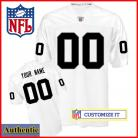 Oakland Raiders RBK Style Authentic White Jersey (Pick A Player)
