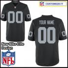 Oakland Raiders Nike Elite Style Team Color Black Jersey (Pick A Name)